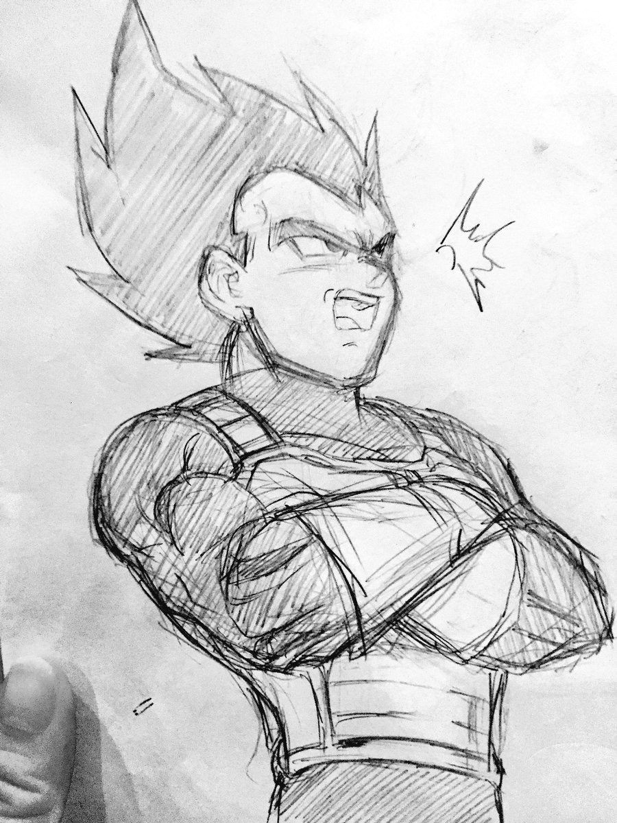 Drawing Anime 3d Vegeta Sketch Visit now for 3d Dragon Ball Z Compression Shirts