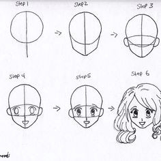 Drawing Anime Characters for Beginners 61 Best How to Draw Anime Faces Images Drawings How to Draw Anime