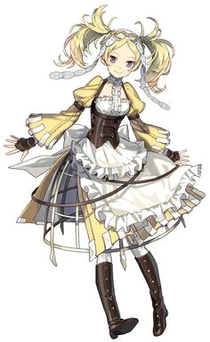 anime girl full body a lissa fire emblem heroes from fire emblem awakening female character design character art