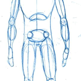 drawing a manga character drawing the outline