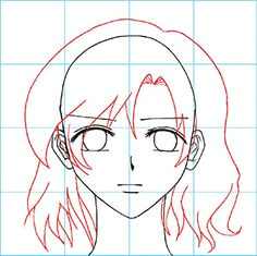 how to draw manga the female face drawing a female face