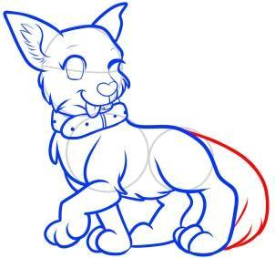 how to draw an anime dog anime dog step 12