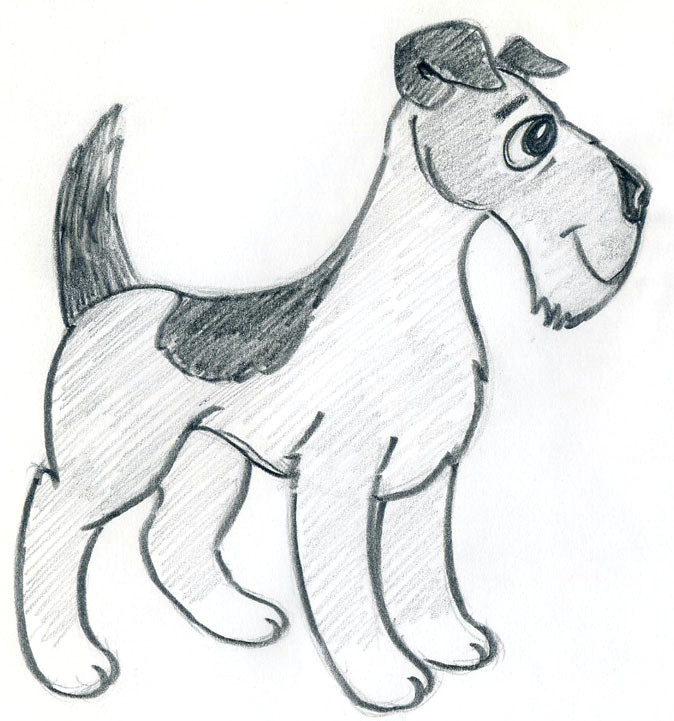 let s learn how to draw cartoon dog