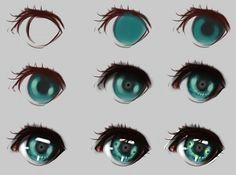 eyes step by step manga eyesdraw