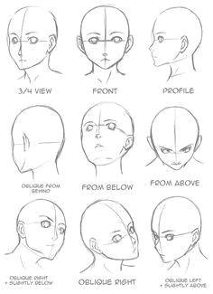 tutorial anime manga realistic face angles