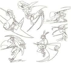 maka in action fight poses anime posesmanga posesdrawing