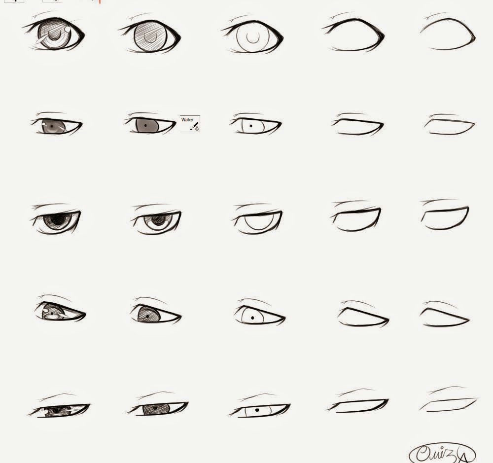 how to draw anime male eyes step by step learn to draw and paint