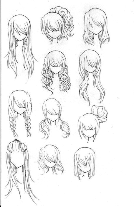 Drawing Anime Girl Head How to Draw Hair I M Sure You Got It Down but Maybe some New Ideas