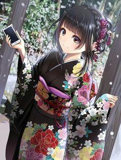 kentauloss anime girl kimono kawaii anime girl anime girls manga anime girl