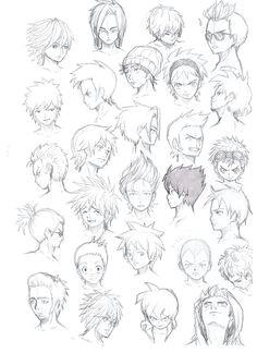various hairstyles male by komodo92tenbinza on deviantart more