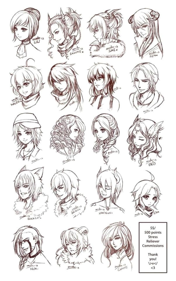 character art character design hair styles anime hair styles drawing female anime