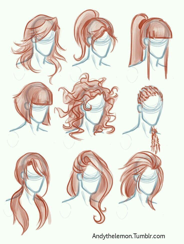 caricature hair