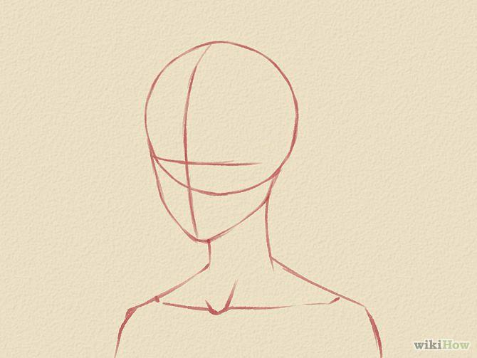 Drawing Anime Head Shape Draw A Manga Face Male Art Stuff 3 Drawings Manga