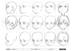 faces face angles head angles head shapes anime face drawing girl face