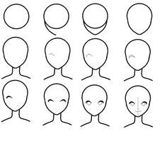 anime face drawing simple face drawing easy drawings cartoon drawings mermaid drawings