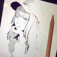 ilya kuvshinov ipad art manga art ilya kuvshinov art reference character reference