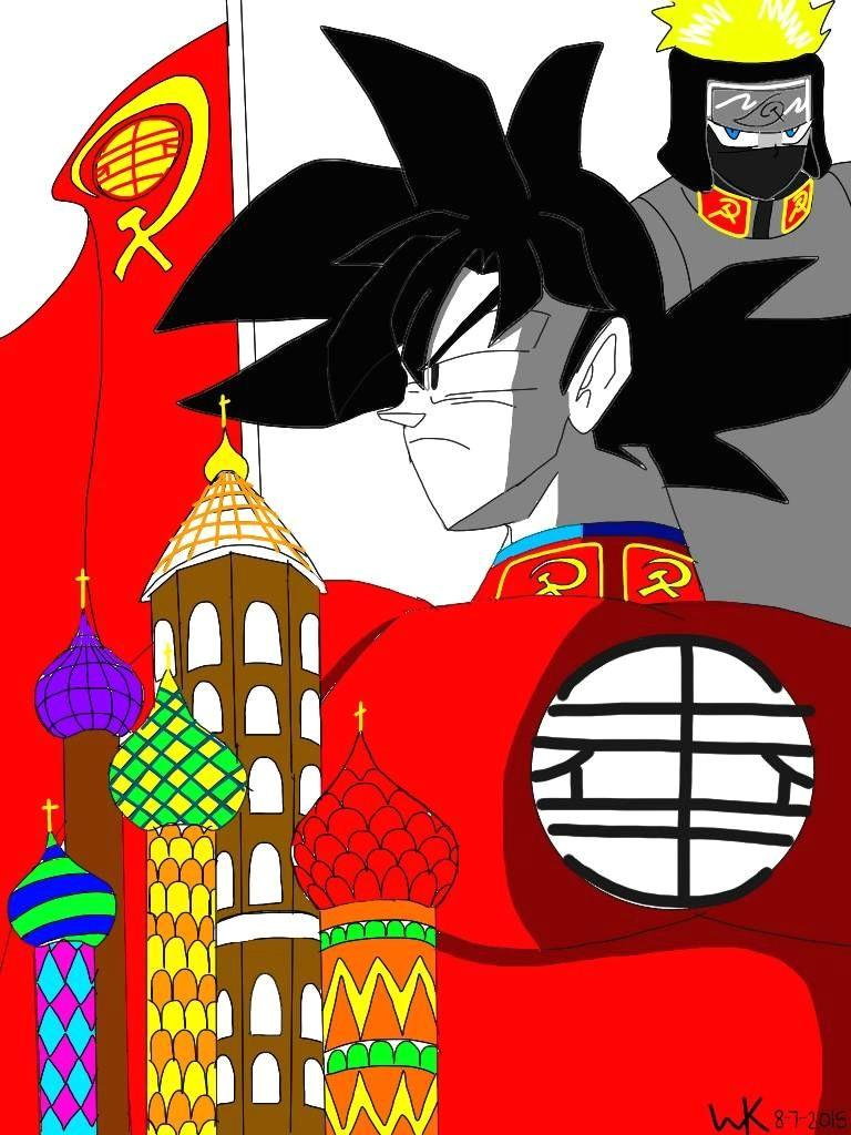anime dragon ball multiverse russian goku and russian naruto ipad art dbz