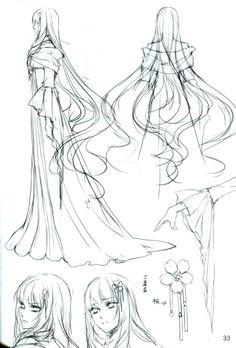 reine des fleurs tumblr anime meninas long hair drawing drawing hair tutorial
