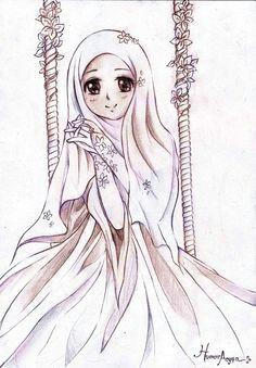 muslimah muslim girls muslim women islamic girl hijab drawing anime muslimah
