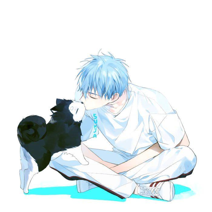 blue hair anime boy akakuro