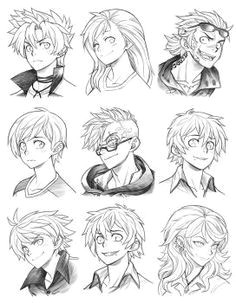 160815 headshot commissions sketch dump 23 by runshin manga drawing drawing heads anatomy
