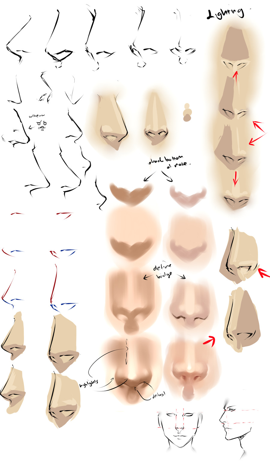 drawing anime noses by moni158 deviantart com art drawing painting tutorial lesson