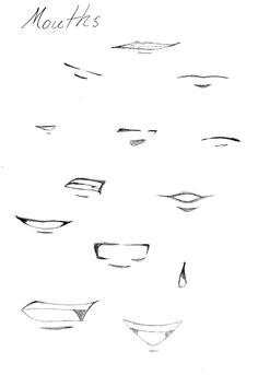 anime manga mouths