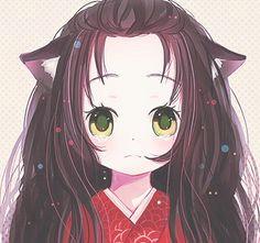 cute anime girl with cat ears socreative a neko