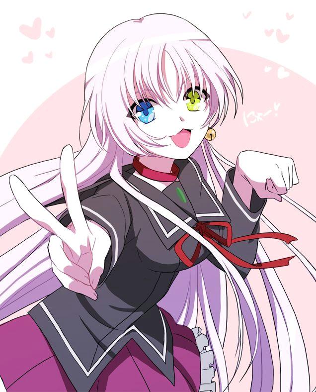 anime heterochromia odd eyes blue green neko k project