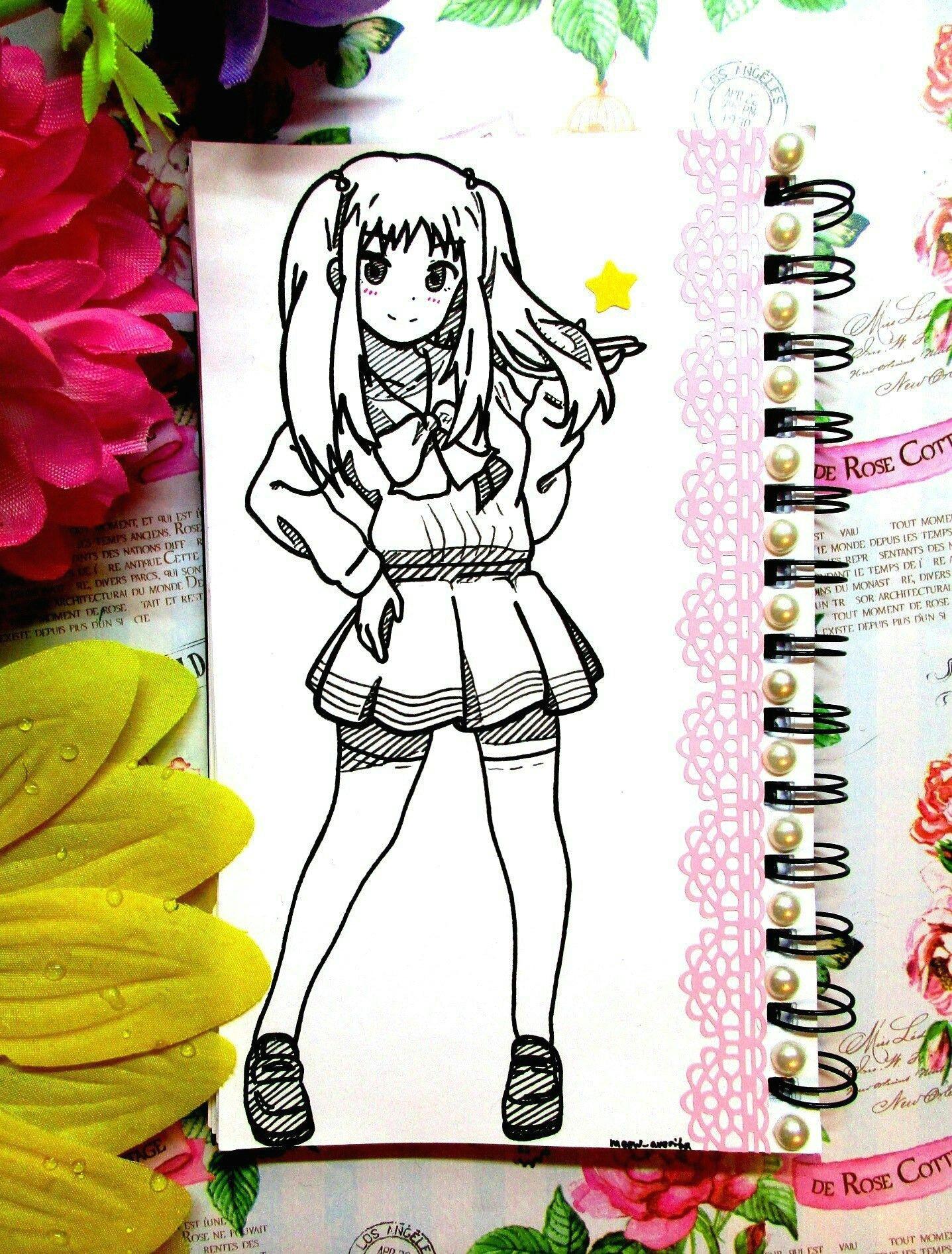 drawing anime cute creative notebook