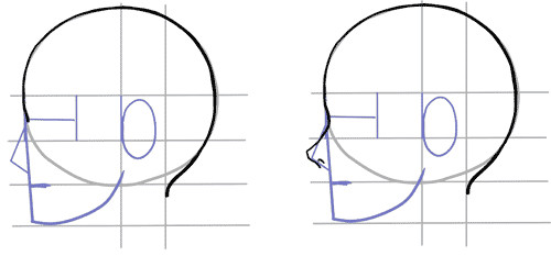 anime face side view tutorial