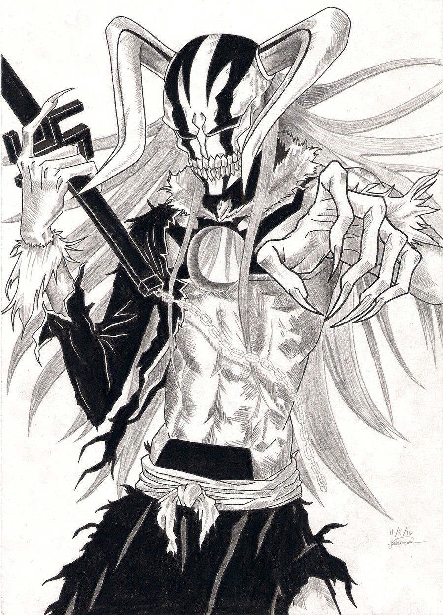 ichigo hollow form 2 bleach ichigo hollow shinigami bleach art bleach manga