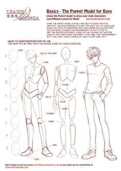 learn manga basics the male puppet
