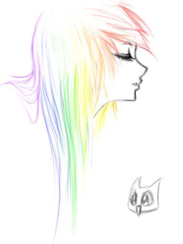 Drawing Anime Rainbow Sketch Rainbow Emo by Ai Lilith Deviantart Com On Deviantart