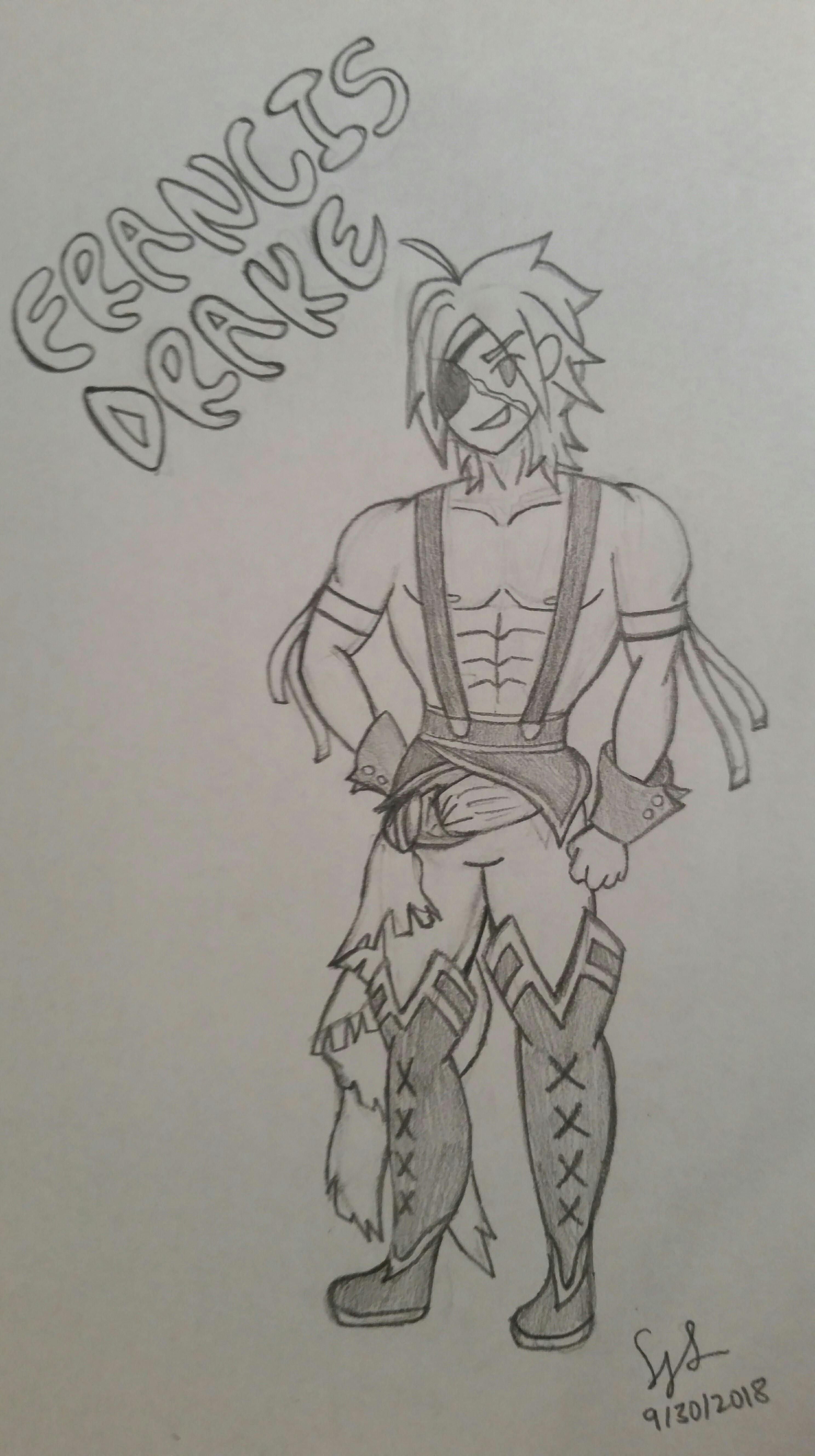 ocfgoctober day 2 genderbent servant francis drake