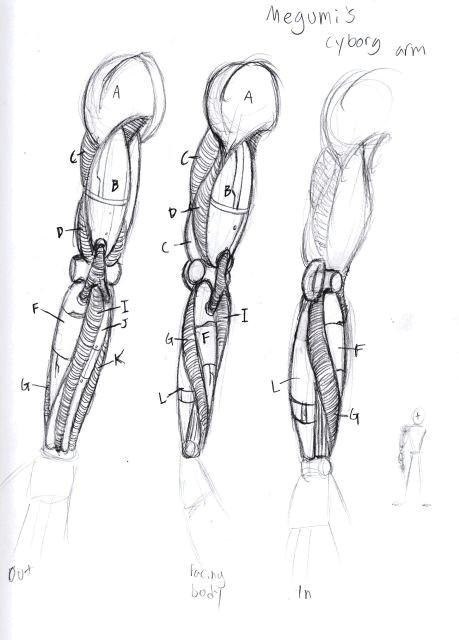 anatomy art anatomy drawing cyborg anime robots drawing mechanical arm bio