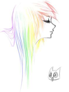 sketch rainbow emo