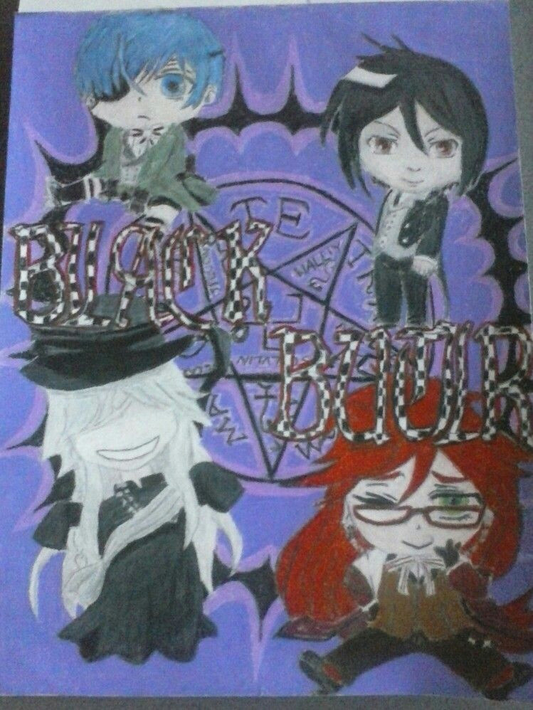 anime shows a black butler chibi drawing