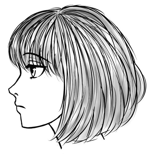 how to draw faces from the side