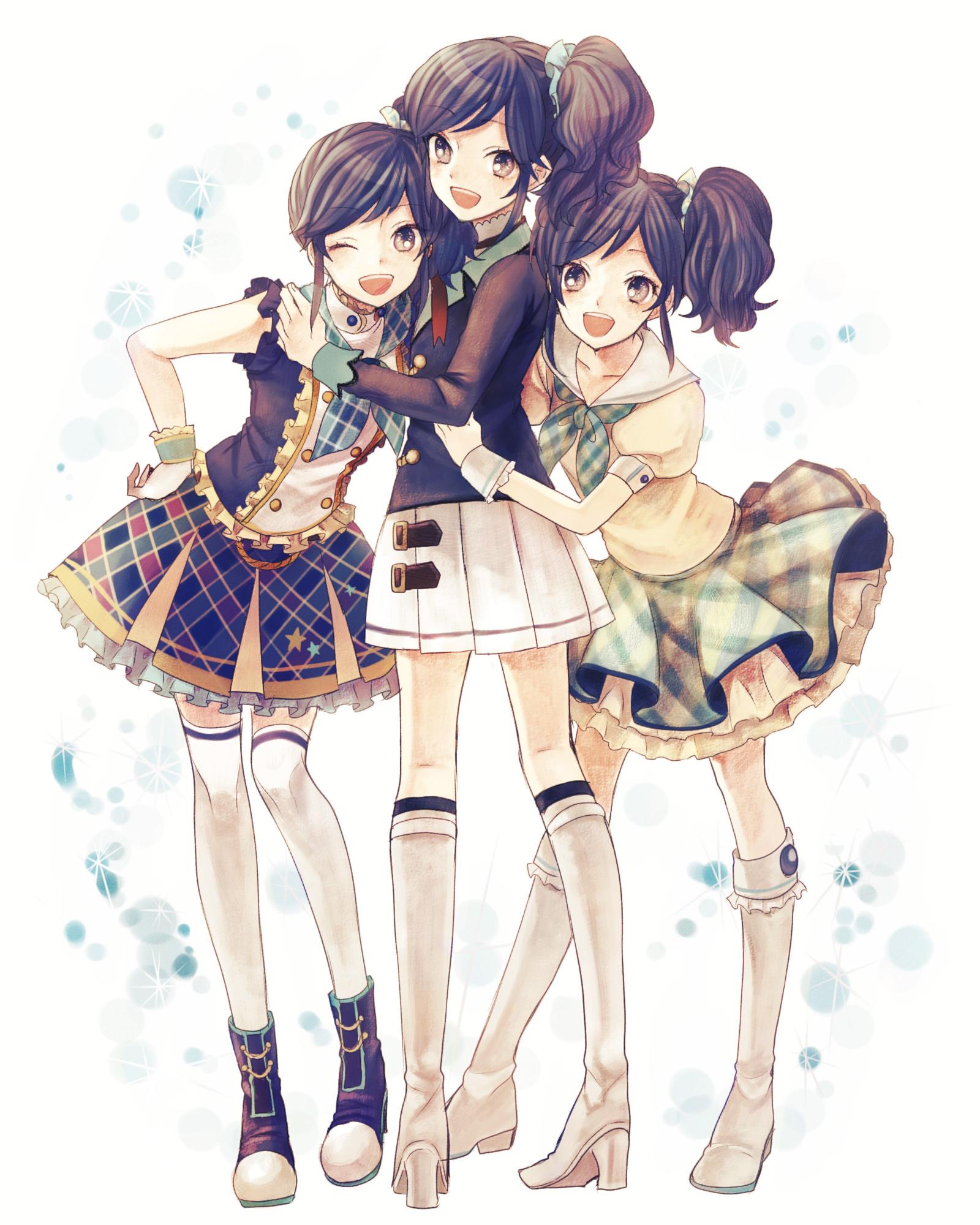 the three secret sisters anime best friends friend anime friends girls anime group