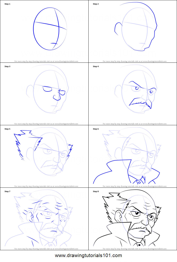how to draw makarov dreyar from fairy tail printable step by step drawing sheet drawingtutorials101 com
