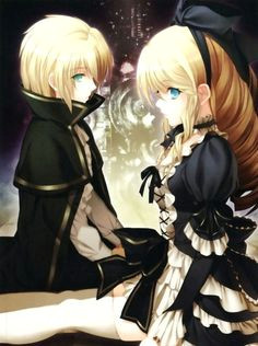 znalezione obrazy dla zapytania anime twins boy and girl