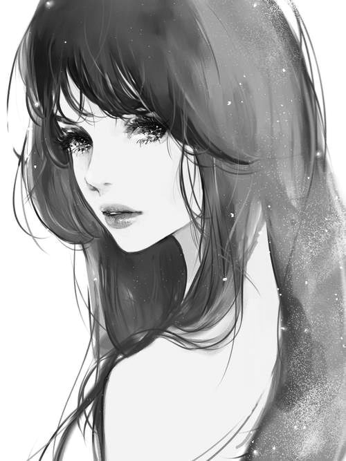 girl rocker watercolor art drawing girl tumblr we heart it