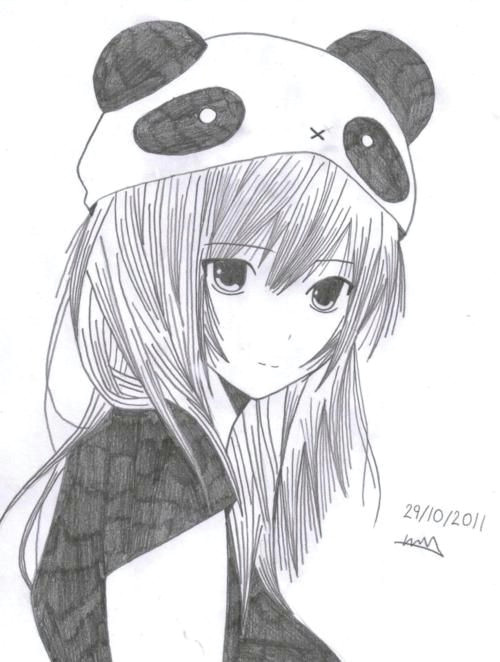 panda anime girl art drawings croquis chibi manga anime anime art