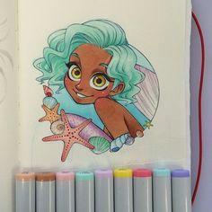 i finally did my next mermaid mermay mermaid copic copicmarkers copicart chihirohowe sakurajoker
