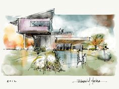 wowee love these gorgeous sketches of modern architecture more at the blog architecture architecture tumblrarchitecture