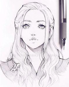 khaleesi daenerys targaryen anime eyes manga anime anime