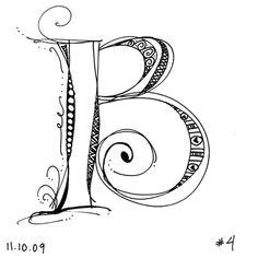 erika white s delightful zensprirations monogram b letter b typography letters doodle lettering