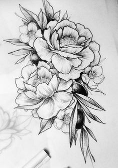 flower sketch images a image result for koroleva tattoo peonies tattoo beautiful tattoos cool tattoos new tattoos