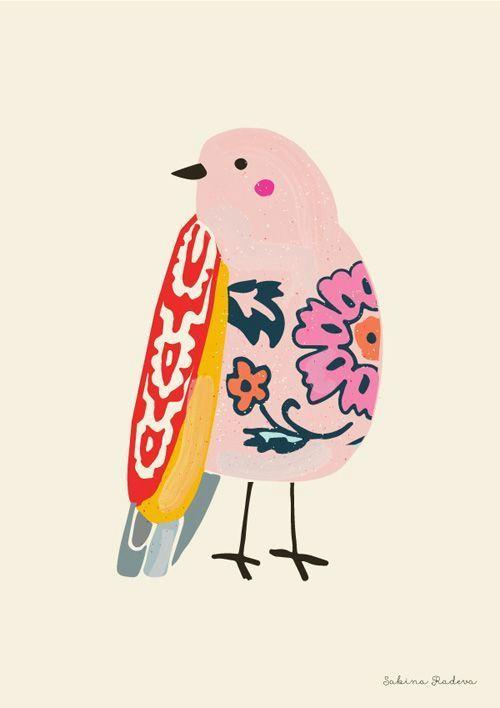 imagem de illustration art and bird